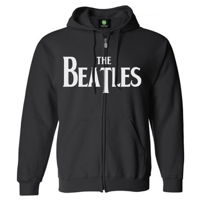 The Beatles: Hooded Top: Drop T (Black)
