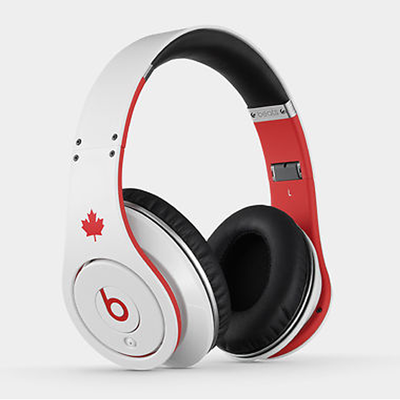 Beats: Studio On-Ear Headphones - White Canada Flag Edition