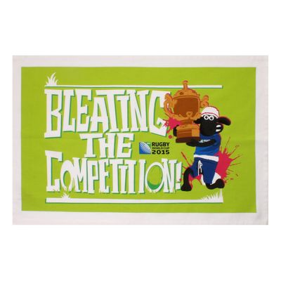 Shaun the Sheep: RWC 2015 Bleating The Competiton Tea Towel