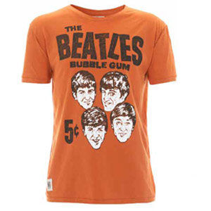 The Beatles: Beatles Bubblegum Burnt Orange Worn By T-Shirt