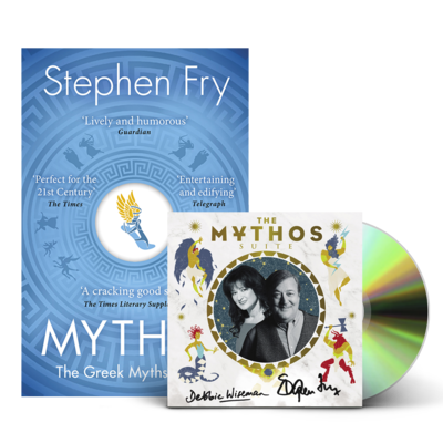 Stephen Fry and Debbie Wiseman : Mythos SIGNED CD & Book Bundle
