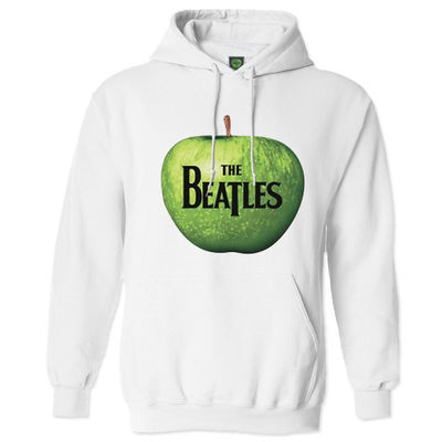 The Beatles: Hooded Top: Apple (White)