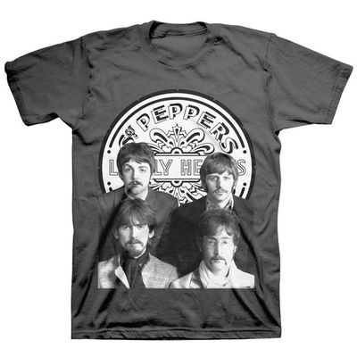 The Beatles: Sgt. Pepper's Group Logo Small T-Shirt