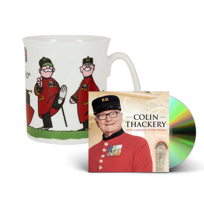 Colin Thackery : SIGNED Colin Thackery album & Official Royal Hospital Chelsea China Mug