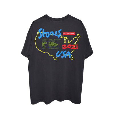 The Rolling Stones: No Filter 2021 Parking Lot Black T-Shirt