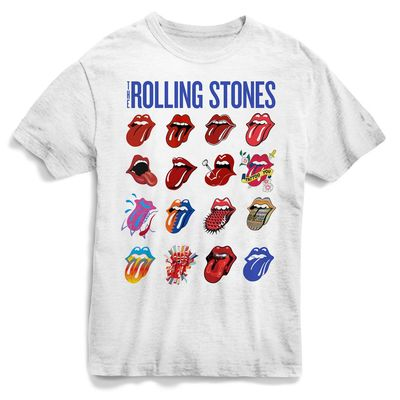 The Rolling Stones: White Evolution T-Shirt