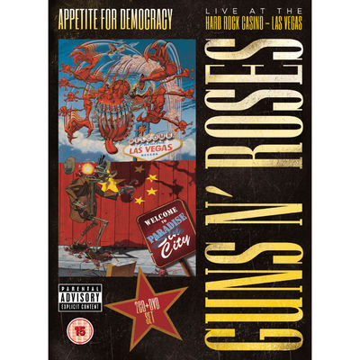 Guns N' Roses: Appetite For Democracy: Live At The Hard Rock Casino DVD - Las Vegas