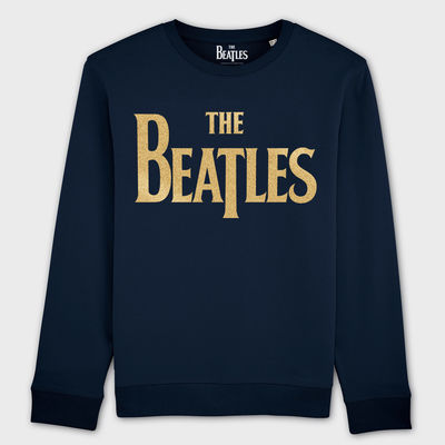The Beatles: Gold Drop T Logo On French Blue Unisex Super Soft Sweatshirt