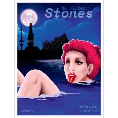 The Rolling Stones: Hamburg Print