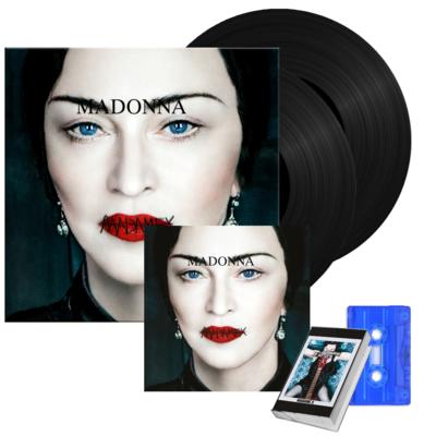 Madonna: Madame X Vinyl, CD + Blue Transparent Cassette