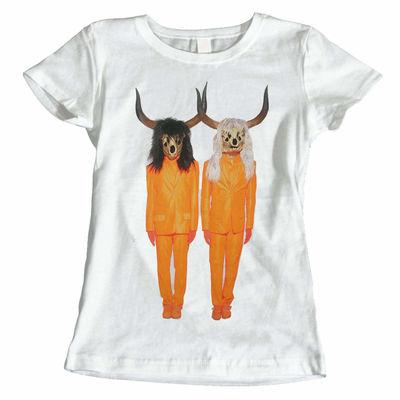 Pet Shop Boys: Suited Skulls White Womens T-Shirt