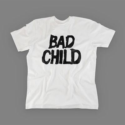 Bad Child: Bad Child - Logo Tee Small (White)