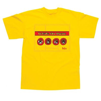 The Beatles: Yellow Submarine Portholes Childrens T-Shirt Yellow