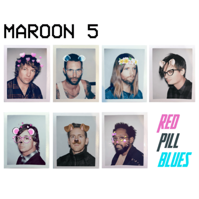 Maroon_5: Limited Edition Signed Red Pill Blues Lithograph