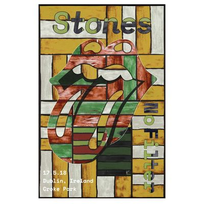 The Rolling Stones: Dublin Lithograph