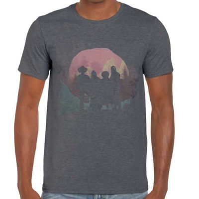 The Wandering Hearts: Wild Silence Print Grey T-Shirt