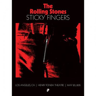 The Rolling Stones: STICKY FINGERS LOS ANGELES FONDA THEATER A2 LITHOGRAPH