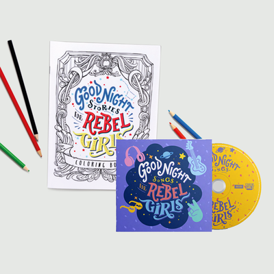 Rebel Girls: Goodnight Songs For Rebel Girls CD & Colouring book set bundle