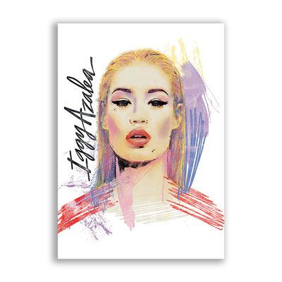 Iggy Azalea: Paint Poster White