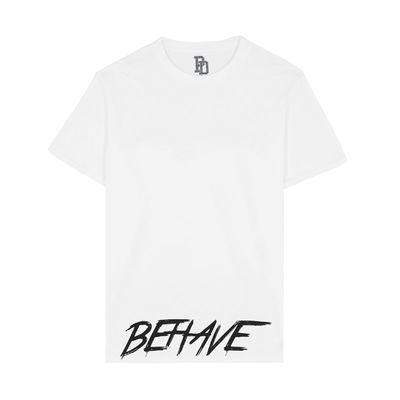 I Play Dirty: BEHAVE White T-shirt