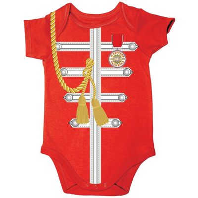 The Beatles: Sgt Pepper Uniform Baby Body Suit Red