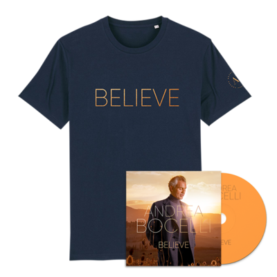 Andrea Bocelli: Believe CD & T-shirt Bundle