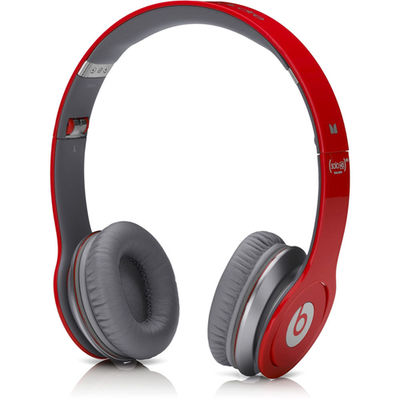 Beats: Solo High Definition On-Ear Headphones with ControlTalk Multilingual - Red