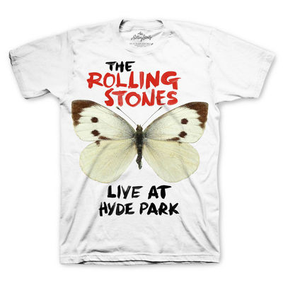 The Rolling Stones: Butterfly T-Shirt White