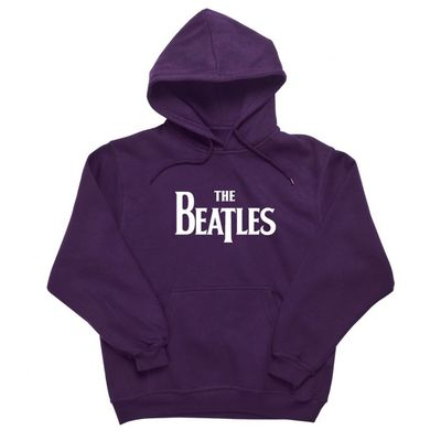 The Beatles: Drop T Logo Hoodie Purple
