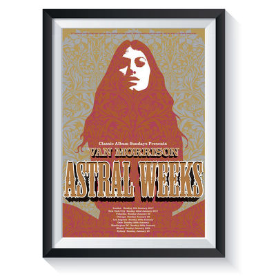 Van Morrison: Astral Weeks: Classic Album Sundays Screen Print