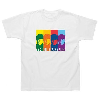 The Beatles: Retro Rainbow Children's T-Shirt White