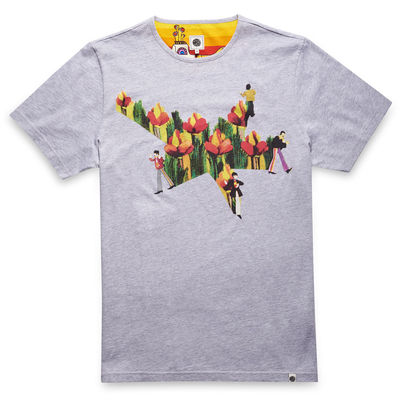 The Beatles: Yellow Submarine Floral Star Print T-Shirt