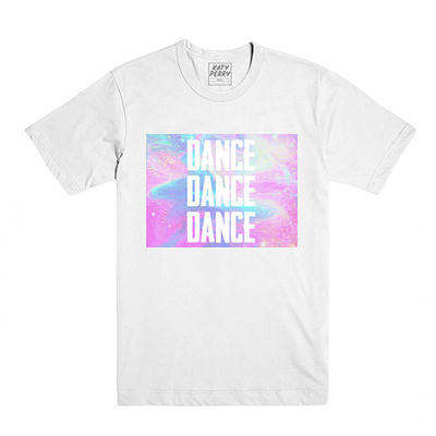 Katy Perry: Dance Foil White Short Sleeve T-shirt