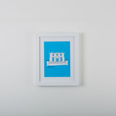 Abbey Road Studios: Abbey Road House Print Blue