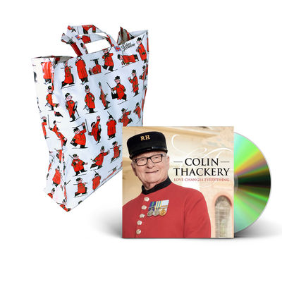 Colin Thackery : SIGNED Colin Thackery album & Official Royal Hospital Chelsea Shopping Bag