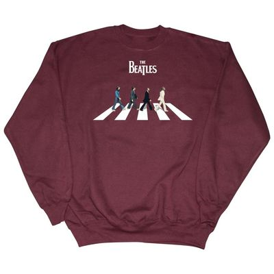The Beatles: Abbey Road Characters Sweatshirt Maroon