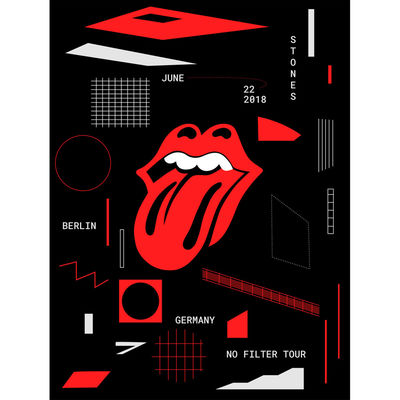 The Rolling Stones: Berlin Lithograph
