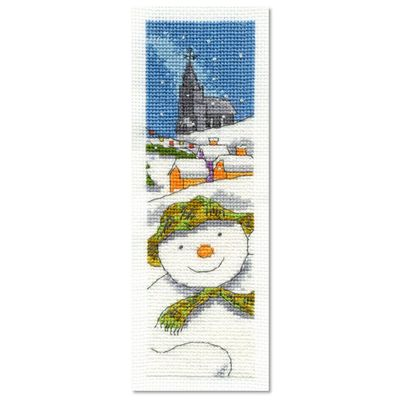 The Snowman: The Snowman and The Snowdog Cross Stitch Kit - The Snowman Bookmark