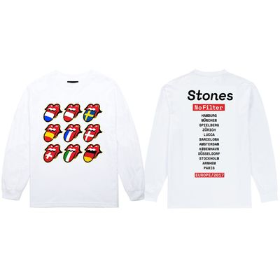 The Rolling Stones: Tongue Flags Longsleeve