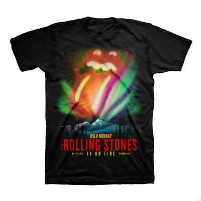 The Rolling Stones: Northern Lights: Oslo Limited Edition Event T-shirt