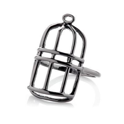 Florence + The Machine: Ceremonials Cage Ring (Hematite)
