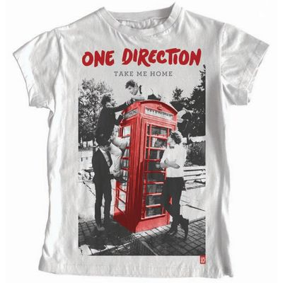 One Direction: One Direction Take Me Home White T-Shirt