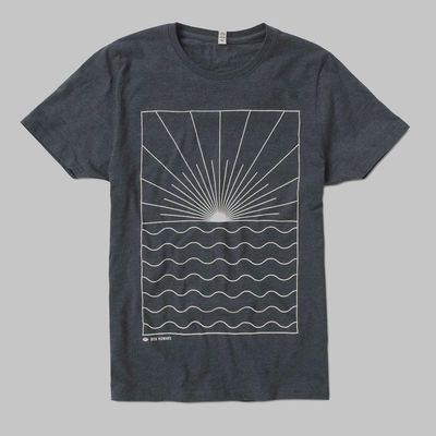Ben Howard: BACKLIGHT WHITE LOGO TEE (HEATHER BLACK)