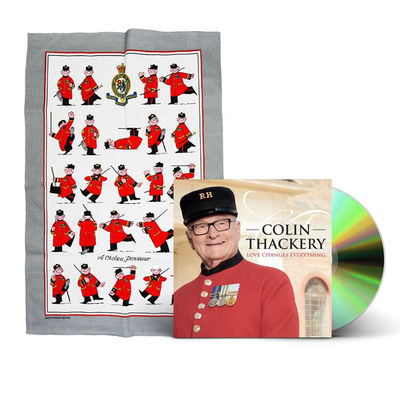 Colin Thackery : SIGNED Colin Thackery album & Official Royal Hospital Chelsea Tea Towel