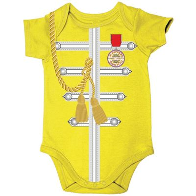 The Beatles: Sgt Pepper Uniform Body Suit Yellow