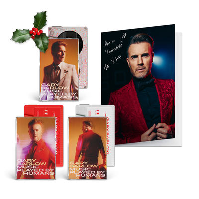 Gary Barlow: Limited Signed Christmas Card & Music Played By Humans Cassette Collection