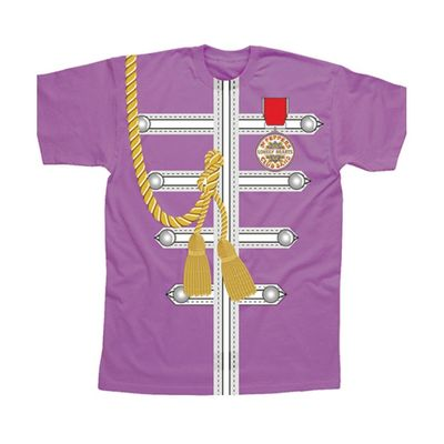 The Beatles: Purple Sgt Pepper Uniform Sublimation T-Shirt