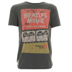 The Beatles: Beatles Movie Poster Charcoal Worn By T-Shirt
