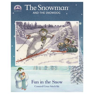 The Snowman: The Snowman and The Snowdog Cross Stitch Kit - Fun In The Snow