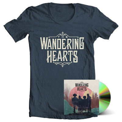 The Wandering Hearts: Wild Silence CD & T-Shirt Bundle